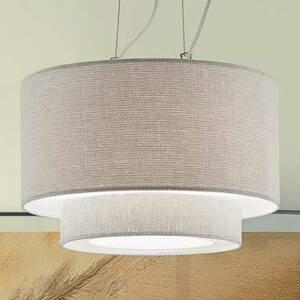 Artempo Italia Závesná lampa Morfeo s textilným tienidlom krémová