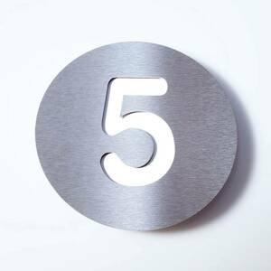 Absolut/ Radius Číslo domu Round z ušľachtilej ocele – 5