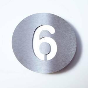 Absolut/ Radius Číslo domu Round z ušľachtilej ocele – 6