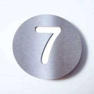 Absolut/ Radius Číslo domu Round z ušľachtilej ocele – 7