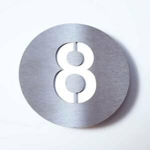 Absolut/ Radius Číslo domu Round z ušľachtilej ocele – 8