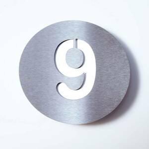 Absolut/ Radius Číslo domu Round z ušľachtilej ocele – 9