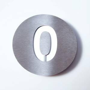 Absolut/ Radius Číslo domu Round z ušľachtilej ocele – 0