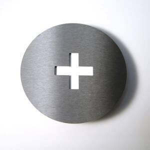 Absolut/ Radius Číslo domu Round z ušľachtilej ocele +
