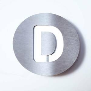 Absolut/ Radius Číslo domu z ušľachtilej ocele Round – D