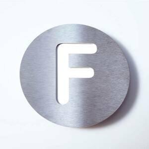 Absolut/ Radius Číslo domu z ušľachtilej ocele Round – F
