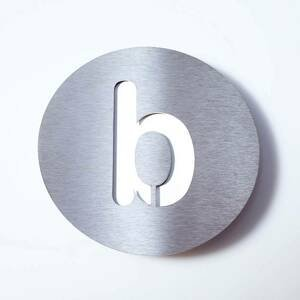 Absolut/ Radius Číslo domu z ušľachtilej ocele Round – b