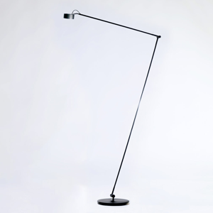 Absolut/ Radius Stojaca LED lampa Basica 930 H s konzolou čierna