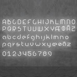 Artemide Artemide Alphabet of Light malé písmeno na stenu c