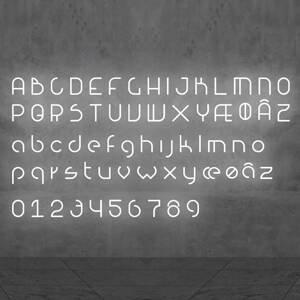 Artemide Artemide Alphabet of Light malé písmeno na stenu h