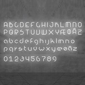 Artemide Artemide Alphabet of Light malé písmeno na stenu j