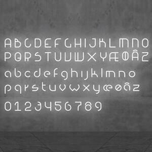 Artemide Artemide Alphabet of Light malé písmeno na stenu n