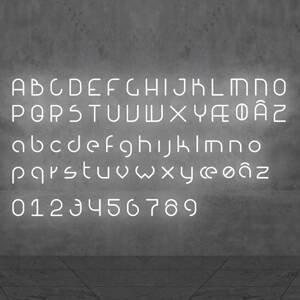 Artemide Artemide Alphabet of Light malé písmeno na stenu u