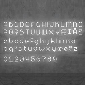 Artemide Artemide Alphabet of Light malé písmeno na stenu ã