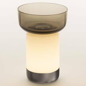 Artemide Artemide Bontà stolná LED lampa, sivá miska