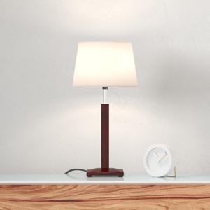 Aluminor Stolná lampa Zanzibar lt, ebenové drevo