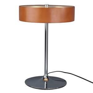 Aluminor Malibu – stolná lampa s čerešňovým drevom