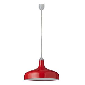 Aluminor Veľká závesná lampa Brasilia v červenej