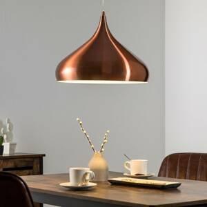 Aluminor Medená závesná lampa Norma z kovu