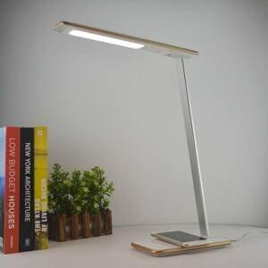 Aluminor Lampa LED na písací stôl Orbit s indukciou, zlatá