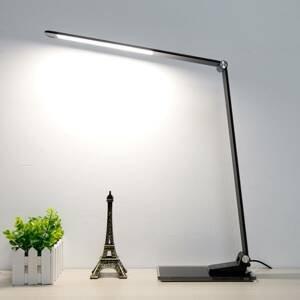 Aluminor LED lampa písací stôl Starglass sklenený podstavec