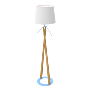 Aluminor Lampa Zazou LS textilné tienidlo modrý podstavec