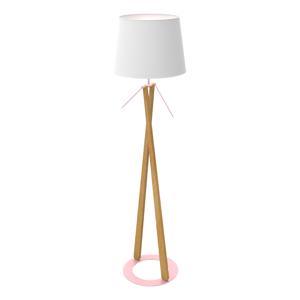 Aluminor Lampa Zazou LS textilné tienidlo, ružový podstavec
