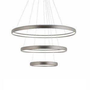 Aluminor Závesné LED svietidlo Trinity z hliníka, striebro