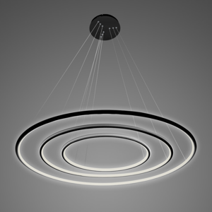 ALTAVOLA DESIGN Závesná lampa LA075 3-pl. 80cm čierna 4000 K