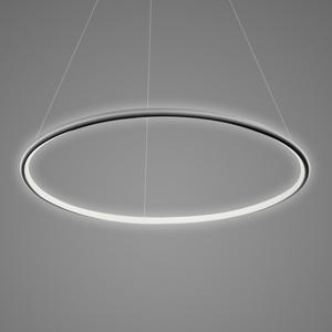 ALTAVOLA DESIGN Závesná lampa LA073 1-pl. Ø 80cm čierna 4000K