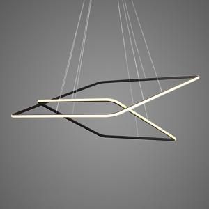 ALTAVOLA DESIGN Závesná lampa LA077 2-pl. 80x80cm čierna 3000K