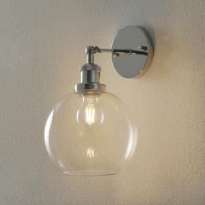ALTAVOLA DESIGN Nástenné svietidlo LA035 E27 chróm/priehľadná