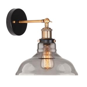 ALTAVOLA DESIGN Nástenné svietidlo LA040 E27 mosadz/dymová sivá