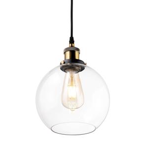 ALTAVOLA DESIGN Závesná lampa LA035 E27 okrúhla mosadz/číra