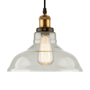 ALTAVOLA DESIGN Závesná lampa LA040 E27 Ø 28cm mosadz/číra