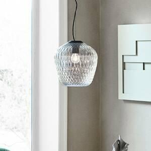 &TRADITION &Tradition Blown SW3 závesná lampa strieborno-číra