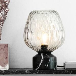 &TRADITION &Tradition Blown SW6 stolná lampa, strieborno-číra