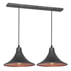 ALDEX Závesná lampa 785, 2-plameňová, grafit/meď