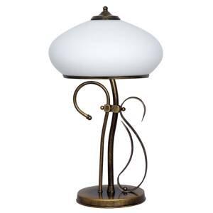 ALDEX Stolná lampa 493 sklo opál/starožitná zlatá 60cm