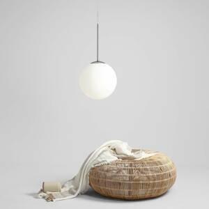 ALDEX Závesná lampa Balia, 1-plameňová, biela/chróm