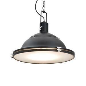 ARGON Závesná lampa Kemi, čierna, Ø 38,5cm