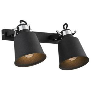 ARGON Nástenné svietidlo Kerava, 2-plameňové, čierne
