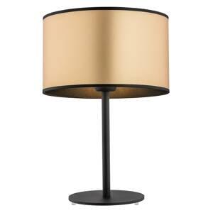 ARGON Stolná lampa Lobera, textilné tienidlo v zlatej