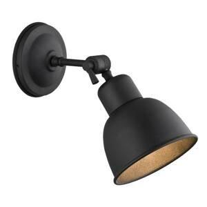 ARGON Nástenné svietidlo Emoti, 1-plameňové, čierne
