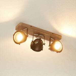 Brilliant Stropné svietidlo Carmen Wood priemyselný štýl 3pl
