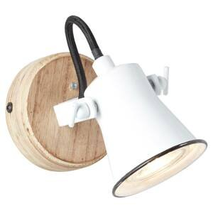 Brilliant Nástenné svietidlo Seed tienidlo na lampu biele