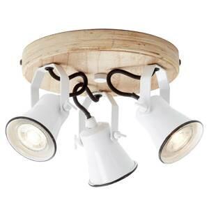 Brilliant Stropné bodové svetlo Seed tienidlá 3-pl. biele