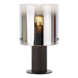 Brilliant Stolná lampa Beth s tienidlom z dymového skla