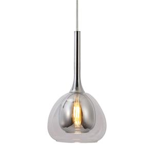 Brilliant Závesná lampa Hadan 1pl tienidlo dymová/priehľadná