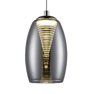 Brilliant Závesné LED svietidlo Metropolis dymové sklo 1-pl.